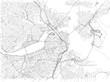 Strade di Boston, cartina della città, Massachusetts, Stati Uniti. Stradario