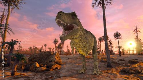 Spoed Foto op Canvas Neushoorn 恐竜