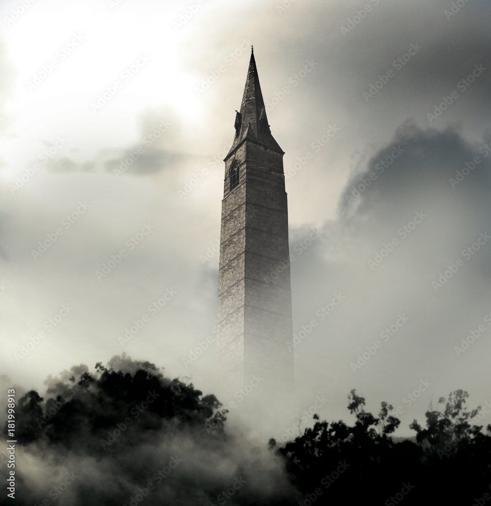 Fototapeta spooky tower
