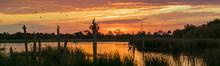 Wetlands Sunset Panorama