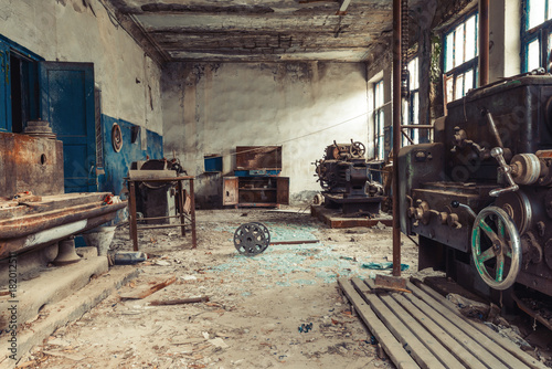 Fototapeta styl industrialny stara-fabryka