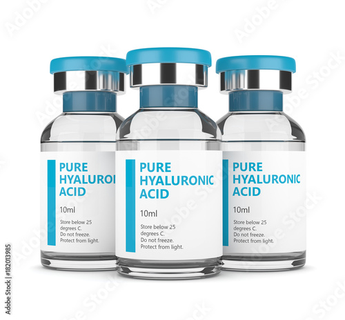 3d render of hyaluronic acid vials Canvas Print