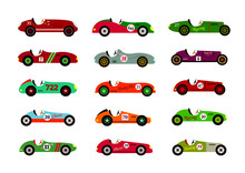 Vintage Race Car Vector Collec...
