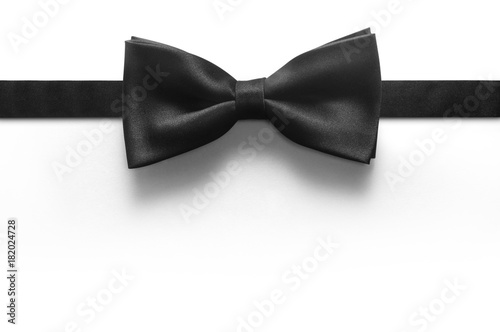 Fotografiet black bow tie isolated on white background