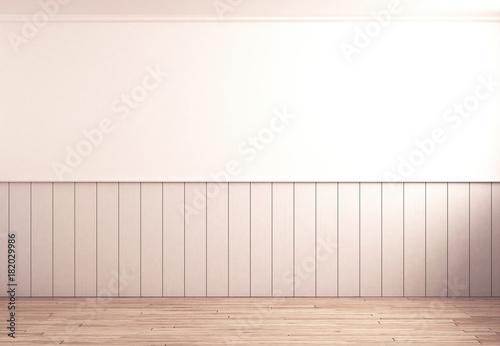 Leere Küche mit Holz-Paneele – kaufen Sie dieses Foto und ...