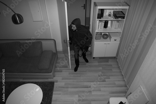 Fotomural  Robber Entering In House