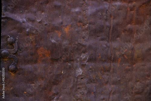 Türaufkleber Metall texture of rusty metal, rusty metal background, metal door detail
