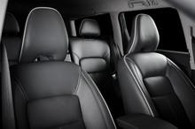 Luxury Car Inside. Interior Of...