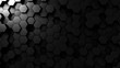 Abstract black hexagonal loopable motion background