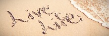 Live Life Written Text On Sand