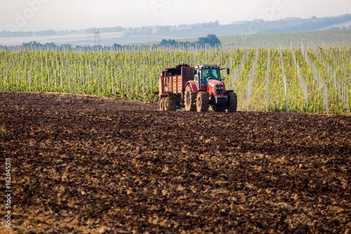 natural manure agro bio fertilization Canvas Print