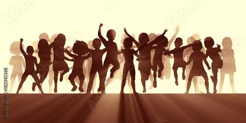 Fotografía  Children Jumping