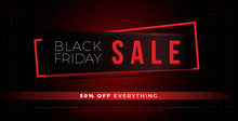 Black Friday Sale Red Tag Background. Super Friday Sale Logo For Banner, Web, Header And Flyer Design. Christmas And New Year Shopping