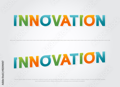 innovation colorful logo  innovetion color typography design with