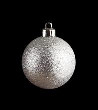 Silvery Christmas Ball Isolate...