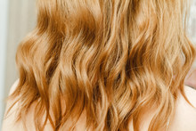 Background Texture Of Red Wavy Ginger Hair