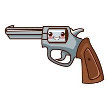 Classic Handgun Weapon Kawaii ...
