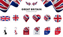 Great Britain Complete Set. Vector Illustration.