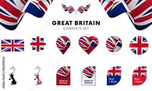 Photo Great Britain complete set. Vector illustration.
