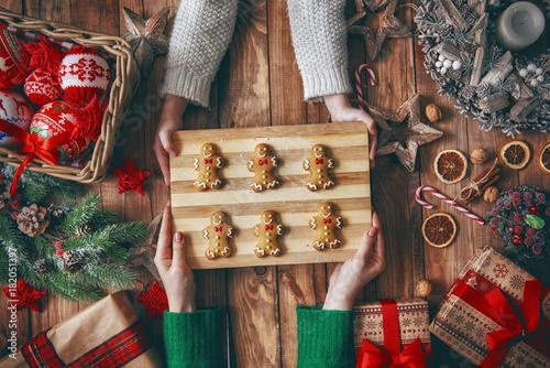 Christmas family traditions Fototapeta