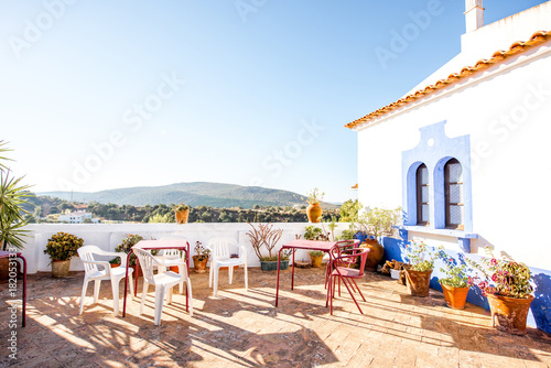 Beautiful terrace with landscape view in Alte village on the south of Portugal Canvas