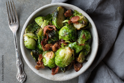 Poster Brussel Brussels Sprouts and Bacon