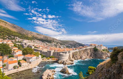 In de dag Mediterraans Europa Wonderful city of Dubrovnik, Old town, Fortresses Lovrijenac and Bokar, Dubrovnik, Adriatic, Sea, Croatia, South Dalmatia, Europe