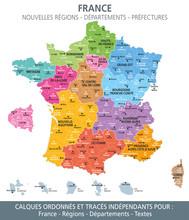 Carte De France, Nouvelles Ré...