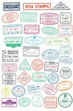 Passport Stamps Or Visa Pages ...
