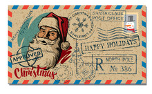 Christmas And New Year Postcar...