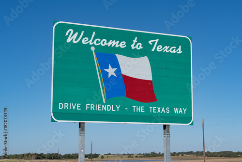 Poster Texas Welcome to Texas Sign