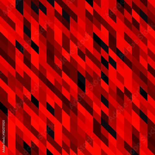 Bloody red abstract geometric rumpled triangular low poly style vector illustration graphic background. Dark black and red colors details web template. - 182075920