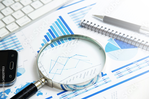 verifica, analisi, economia, statistiche Canvas Print
