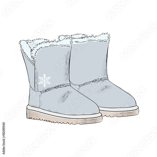 4bb7e94b1ec New Year's warm gray ugg boots with fur. Winter collection of ...