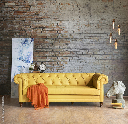 Chester Sofa Interior Brick Wall