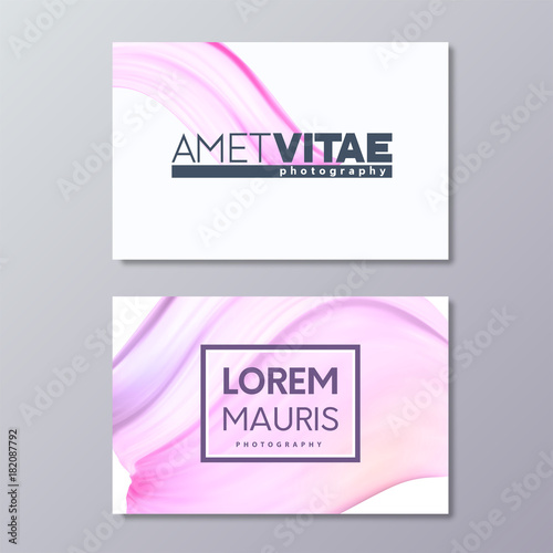Art abstract pink business card template paint brush colorful art abstract pink business card template paint brush colorful smudge emblem design colourmoves