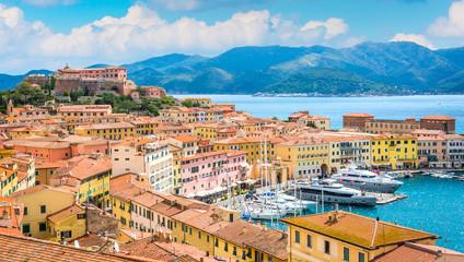 Panoramic sight of Portoferraio in Elba Island, Tuscany, Italy.
