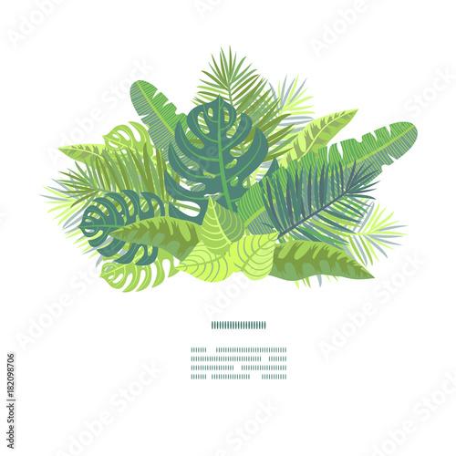Photo Card on tropical jungle leaves theme.