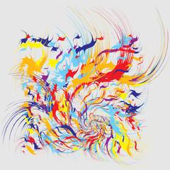 Fototapeta Do pokoju młodzieżowego Paint Splashes Abstract Background