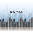 new york city scene vector illustration design