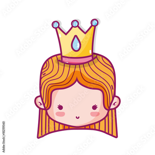 Photo Isolated princess design