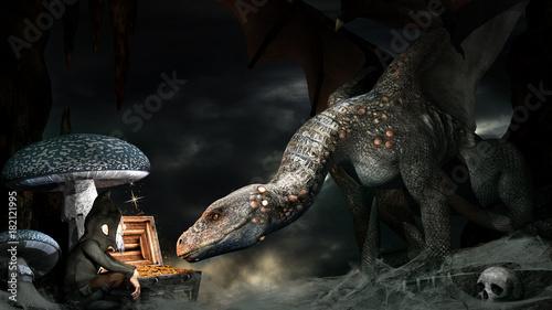Dragon and gnome