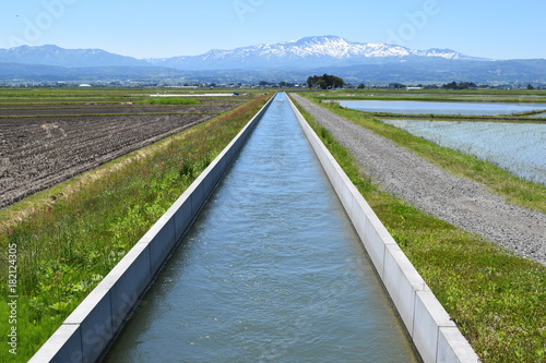 農業用水路 Fototapete