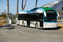 Electric Bus Stands At The Cha...