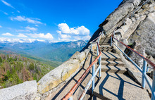 Hike On Moro Rock Staircase To...