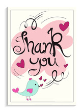 Beautiful Thank You Card With ...