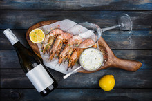 Large Shrimp Or Langoustine Wi...