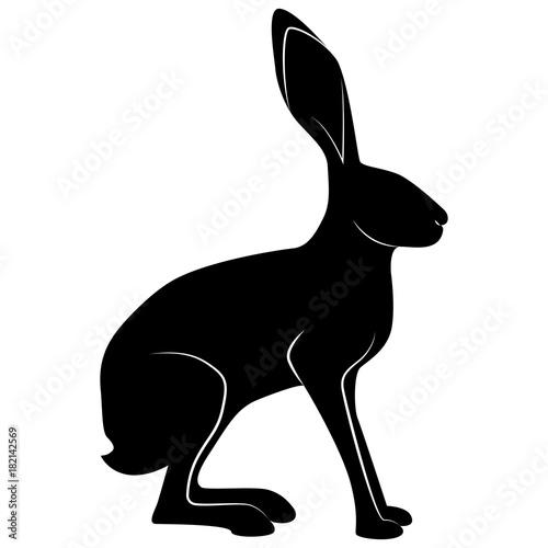 Fotografía Vector image of hare silhouette