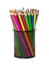 Colored Pencils In Black Offic...