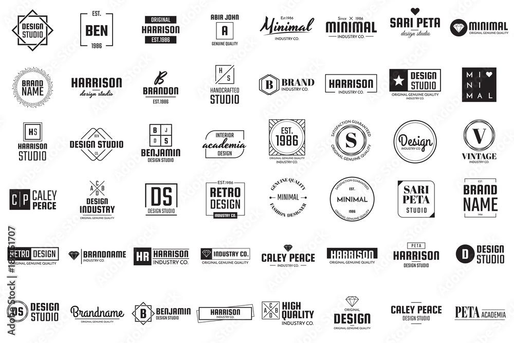 Fototapety, obrazy: Minimal Vector Logo for banner